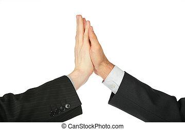 manos, dos, palmas, tocado