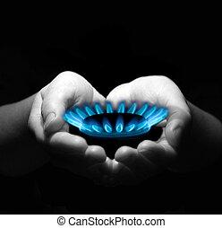 manos, gas