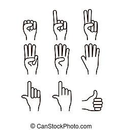 manos, gesto