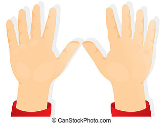 manos, niños, delantero, palmas