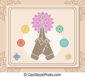 manos, yoga, mandala