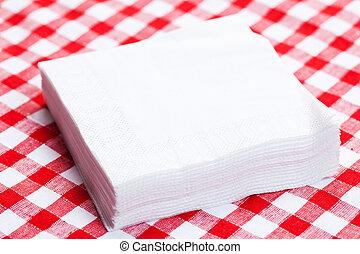 mantel, papel, picnic, servilletas