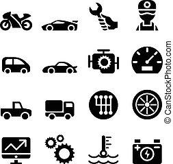 Mantenimiento de coches y reparación de icono
