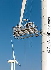 Mantenimiento de una turbina de viento
