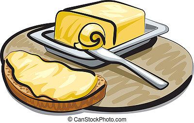mantequilla, emparedado