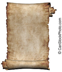 Manuscrito, ruedo de pergamino