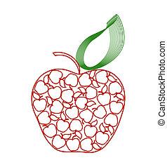 Manzana aislada de fondo blanco