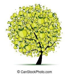 Manzana energética para tu diseño