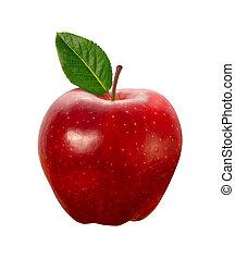 Manzana Roja aislada con el camino
