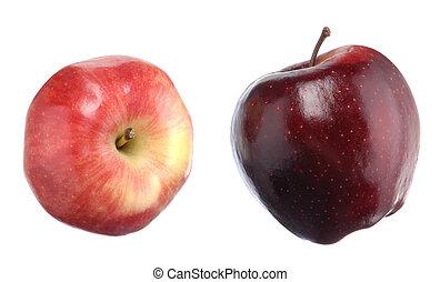 Manzanas aisladas en blanco