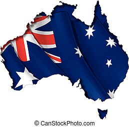 map-flag, australiano