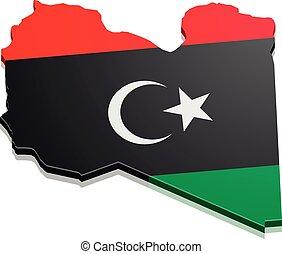 Map libya