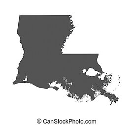 Map of louisiana - USA