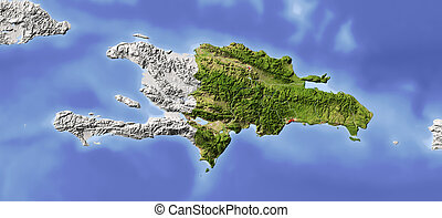 mapa, alivio, república dominicana, protegidode la luz