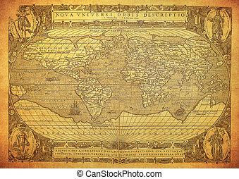 Mapa antigua del mundo 1602