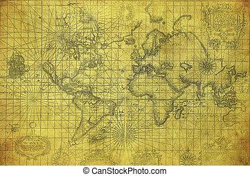 Mapa antigua del mundo 1657