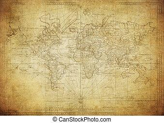 Mapa antigua del mundo 1778