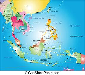 Mapa Asia del sudeste