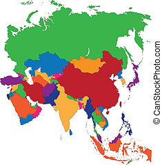 mapa, asia