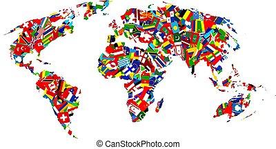 mapa, bandera