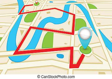 mapa, camino