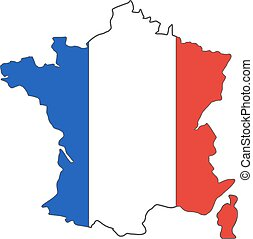 mapa, campeonato, flag., torneo, 2016, aislado, fútbol, francia, fondo., bandera, vector, diseño, colors., euro, design., wih, funcionario