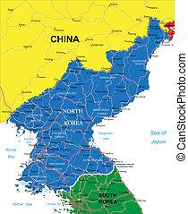 Mapa Corea del Norte