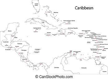 Mapa de caribbean