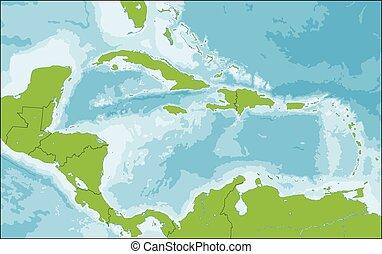 Mapa de Caribe