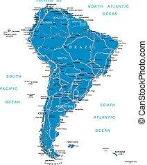 Mapa de carretera de Sudamérica