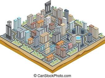 Mapa de ciudad isométrica