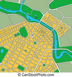Mapa de ciudad urbana genérica