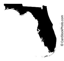 Mapa de Florida, Estados Unidos
