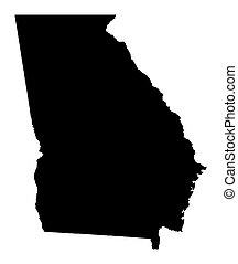 Mapa de Georgia, Estados Unidos