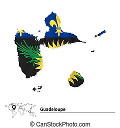Mapa de guadalupe con bandera
