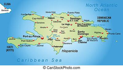 Mapa de hispaniola