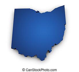 Mapa de la forma 3D de Ohio