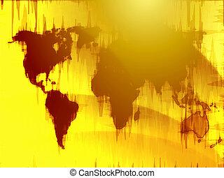 Mapa de la ilustración mundial