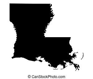 Mapa de Louisiana