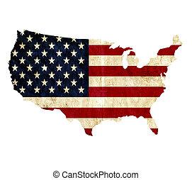 Mapa de papel de Estados Unidos de América