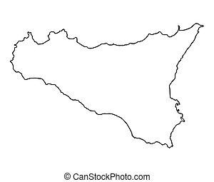 Mapa de Sicilia