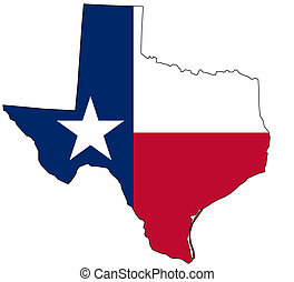 Mapa de Texas en colores nacionales