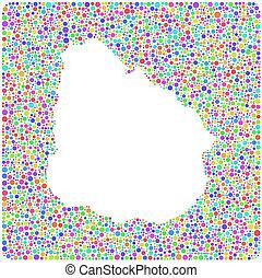Mapa de uruguay - América latina -