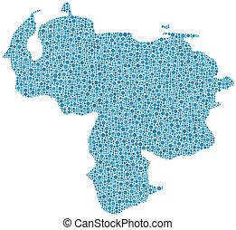 Mapa de Venezuela (America)