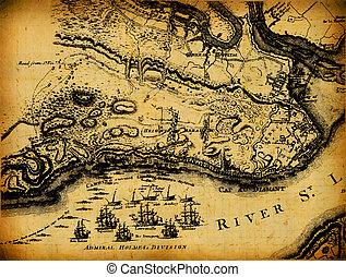 Mapa de vintage