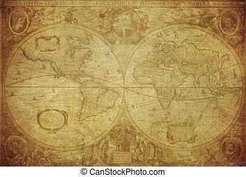Mapa de vitaje del mundo 1630