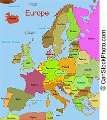 Mapa del continente europeo