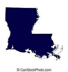Mapa del estado de Luisiana