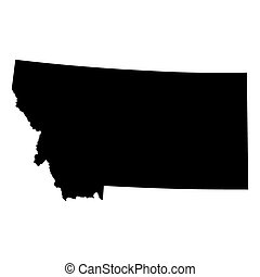 Mapa del estado de Montana