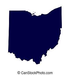 Mapa del estado de Ohio